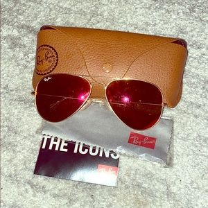 Ray-Ban red mirror lense aviators